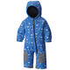 Columbia Hot-Tot Suit Toddlers Super Blue Triangles